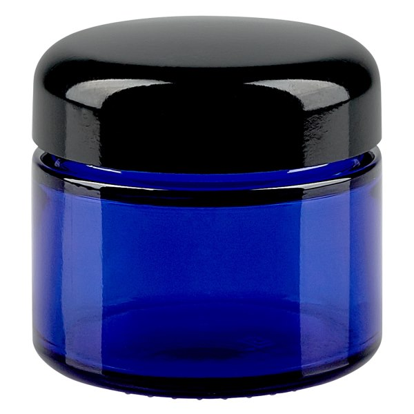 50ml glasdose blau schwarzer deckel. Black Bedroom Furniture Sets. Home Design Ideas